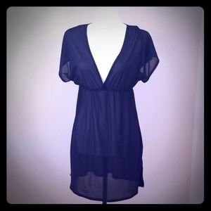 ❄3/$25 Black sheer dress/cover-up